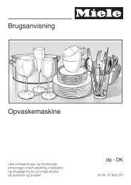 Brugsanvisning Opvaskemaskine - Hvidt & Frit