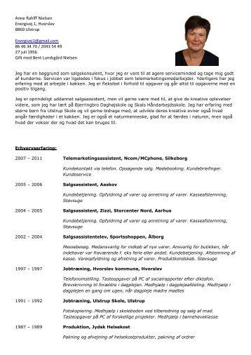 Anne Rahlff Nielsen Energivej 1, Hvorslev 8860 ... - Jobklub Favrskov