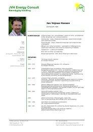 Her kan du downloade CV for Jan Vejnaa Hansen. - Velkommen til ...