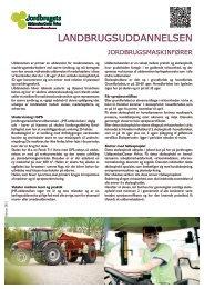 Faktablad om uddannelsen - Jordbrugets UddannelsesCenter Århus