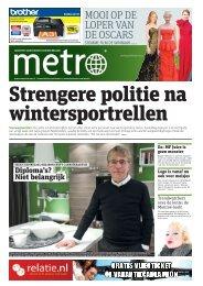 Strengere politie na wintersportrellen - Metro