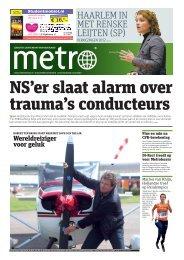NS'er slaat alarm over trauma's conducteurs - Metro