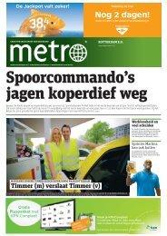 Spoorcommando's jagen koperdief weg - Metro
