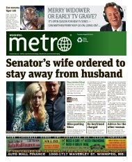Senator's wife ordered to stay away from husband - Metro