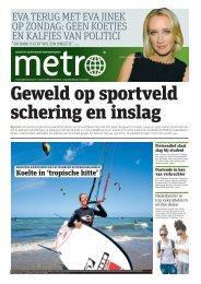 Geweld op sportveld schering en inslag - Metro