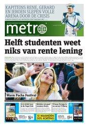 Helft studenten weet niks van rente lening - Metro