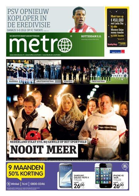 NOOIT MEER - Metro