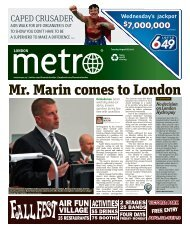 Mr. Marin comes to London - Metro