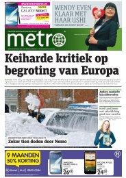Keiharde kritiek op begroting van Europa - Metro