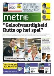 """""""Geloofwaardigheid Rutte op het spel"""" - Metro"""