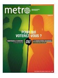 POUR QUI VOTEREZ-VOUS ? - Metro