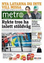 Här bärgas tåget efter kraschen Polisen utreder brott efter ... - Metro