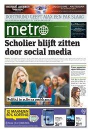 Scholier blijft zitten door social medi a - Metro