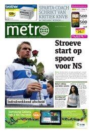 Stroeve start op spoor voor NS - Metro