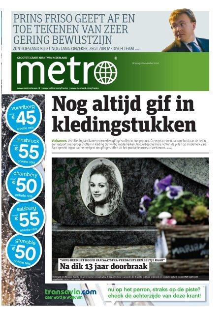 Nog altijd gif in kledingstukken - Metro