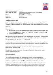 Anforderungsprofil - Heinrich Metzendorf Schule