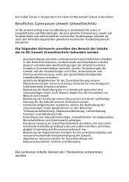 Berufliches Gymnasium Umwelt (Umwelttechnik) - Heinrich ...