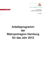 Arbeitsprogramm der Metropolregion Hamburg für das Jahr 2013