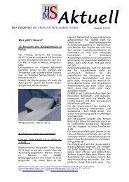 Ausgabe 03 2013 - Heinrich Metzendorf Schule