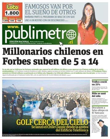 Millonarios chilenos en Forbes suben de 5 a 14 - Metro