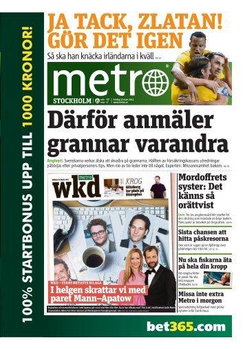 utan att stanna - Metro