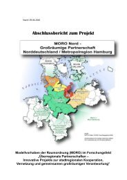a. gesamtbewertung des moro nord-projektes - Metropolregion ...