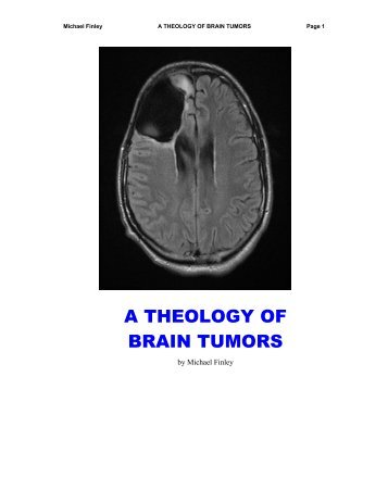 A Theology of Brain Tumors - Future Shoes