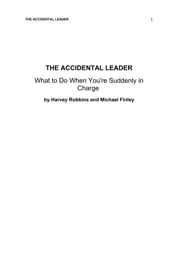 the accidental leader - Future Shoes