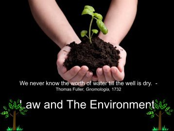 Environmental Legislation - MGCI History.ca