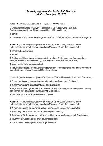 Leistungsnachweise Deutsch Mrg