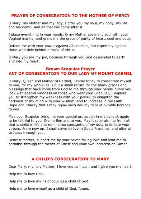 A Daily Consecration to the Blessed Virgin Mary - MGS