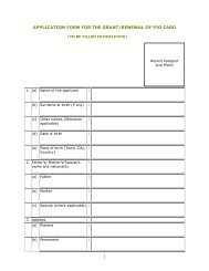 1 APPLICATION FORM FOR THE GRANT/RENEWAL OF PIO CARD