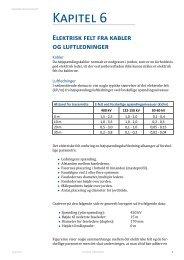 Kapitel 6: Elektrisk felt kable og luftledninger - Dansk Energi
