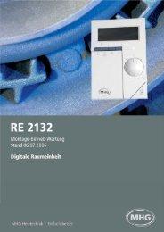 Anleitung RE2132 - digitale Raumeinheit - Mhg