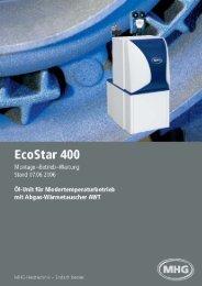 Montage, Betrieb, Wartung EcoStar 400 - Mhg
