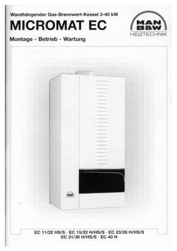 Montage, Betrieb, Wartung MICROMAT EC 11-40 - MHG (Schweiz)
