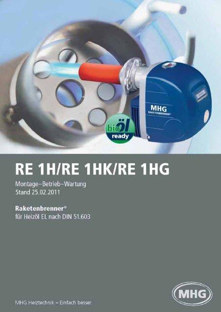 RE 1H / RE 1 HK / RE 1 HG - Mhg