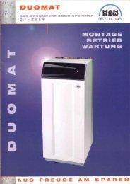 Montage - Betrieb - Wartungsanleitung DUOMAT 25 - Mhg