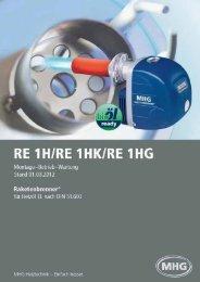 RE 1H / RE 1 HK / RE 1 HG - MHG (Schweiz)