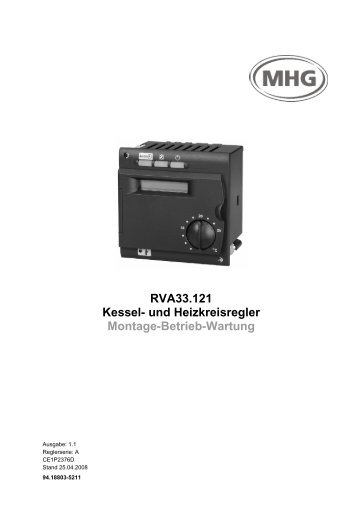 Montage – Betrieb - Wartung RVA 33.121 - MHG (Schweiz)