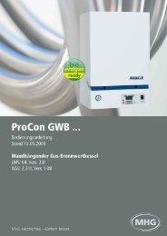 ProCon GWB - MHG Heiztechnik