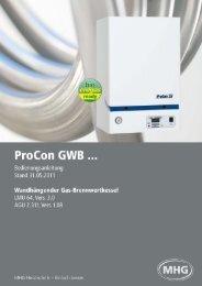 Bedienungsanleitung ProCon GWB... (793 KB) - MHG Heiztechnik
