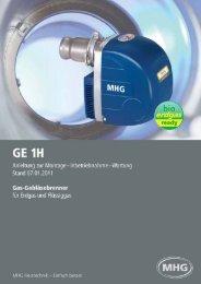 Anleitung zur Montage - Inbetriebnahme - MHG (Schweiz)