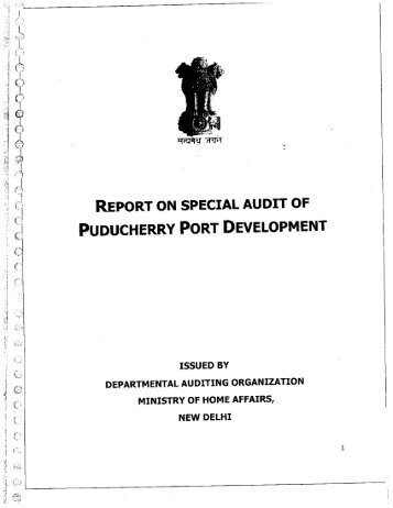 PUDUCHERRY PORT DEVELOPMENT - Ministry of Home Affairs