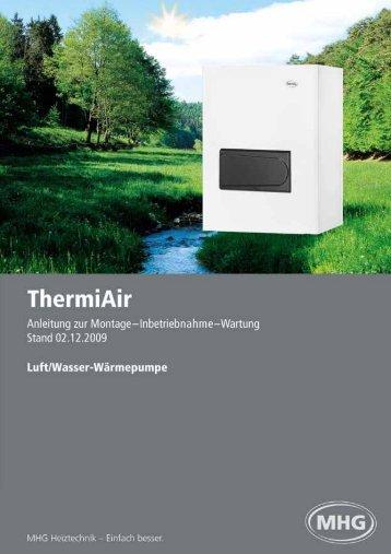 ThermiAir Luft/Wasser - MHG Heiztechnik