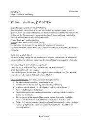 Deutsch 27. Sturm und Drang (1770-1785)