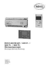 Montage-Betrieb-Wartung RVS 61.843 + QAA 75+78 - Mhg