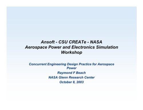 Presentation - Concurrent Engineering Design Practice for