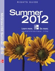 Summer 2012 Rights Guide - McGraw-Hill Professional