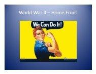 World War II – Home Front - Marblehead High School